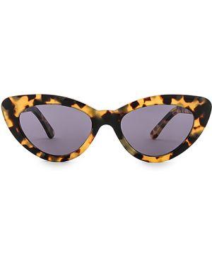 Brązowe okulary skorzane Illesteva