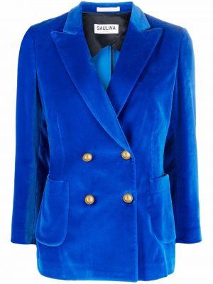 Бархатный пиджак - синий Saulina