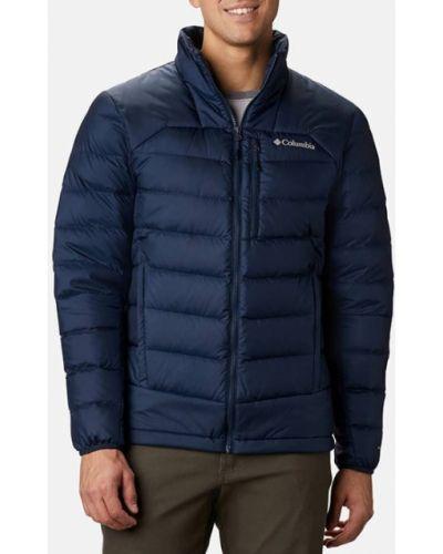 Пуховая синяя куртка Columbia