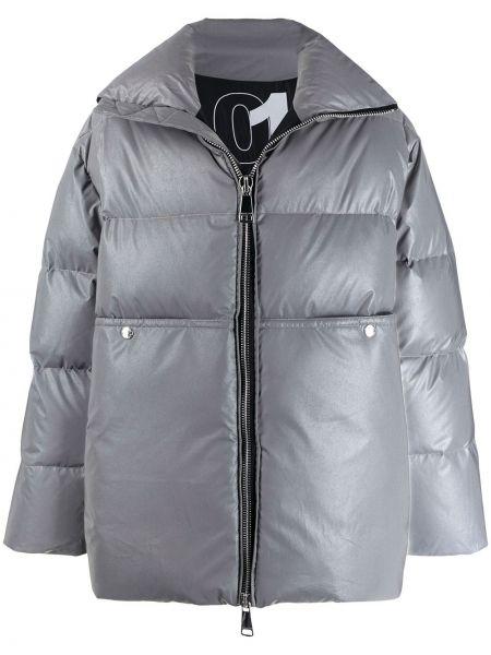 Дутое пальто с капюшоном Khrisjoy