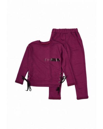 Фиолетовый спортивный костюм фламинго текстиль