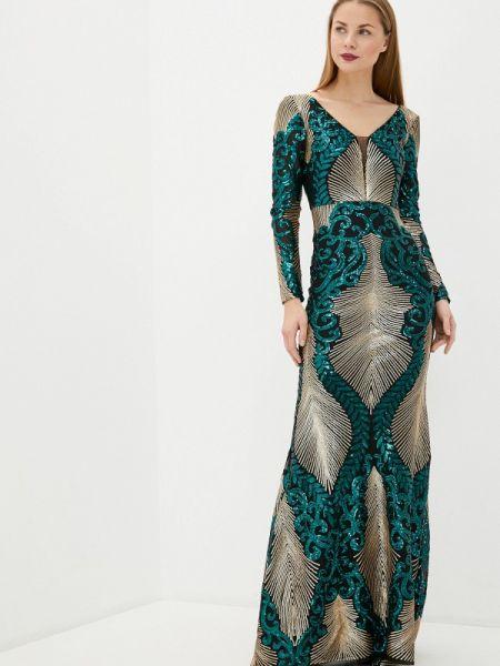 Вечернее платье золотое Soky & Soka