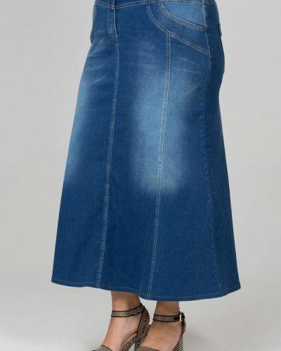 Джинсовая юбка синяя Intikoma