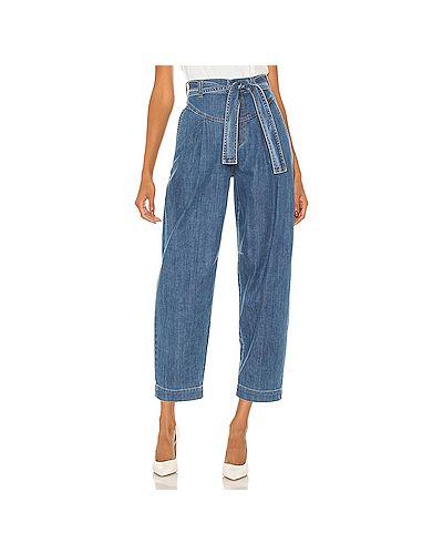 Синие свободные брюки с завязками с карманами свободного кроя See By Chloé