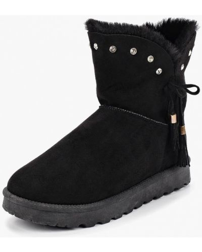 Полусапожки черные замшевые Max Shoes