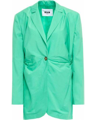 Хлопковый пиджак на пуговицах мятный Msgm