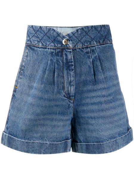 Джинсовые шорты песочный синий Sandro Paris