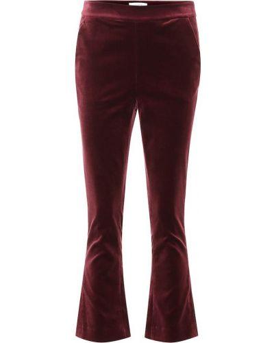 Деловые фиолетовые укороченные брюки с поясом Frame