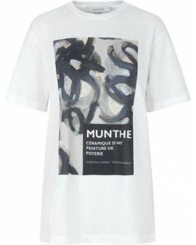 Biała t-shirt Munthe