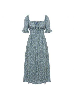Платье из вискозы - голубое Faithfull The Brand