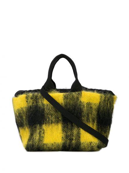Желтая сумка-тоут квадратная Muun