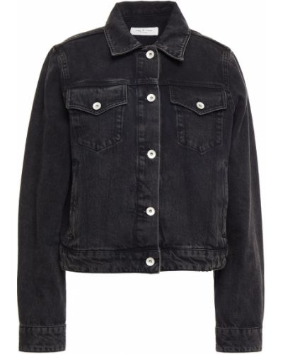 Черная джинсовая куртка Rag & Bone