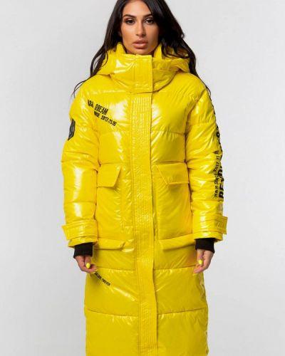 Теплая желтая куртка Whitefox