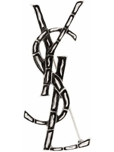Broszka ze srebra srebrna Saint Laurent