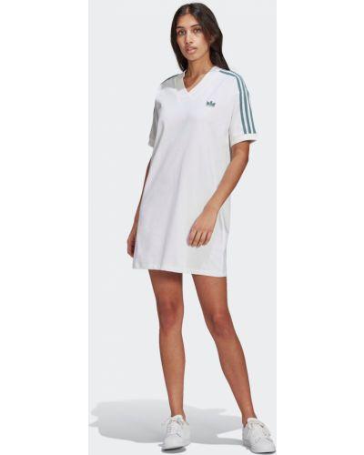 Трикотажное платье - белое Adidas