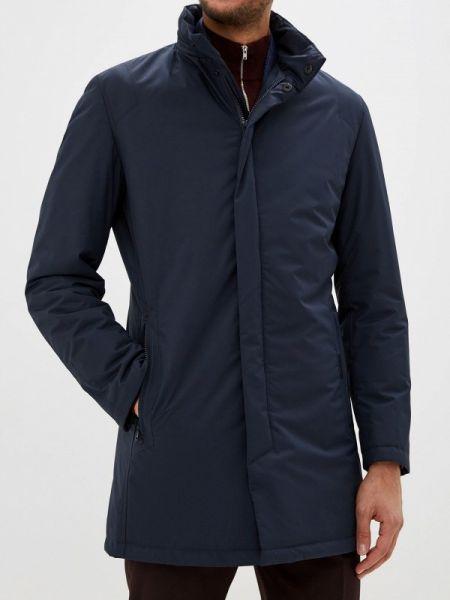 Теплая синяя утепленная куртка Bazioni
