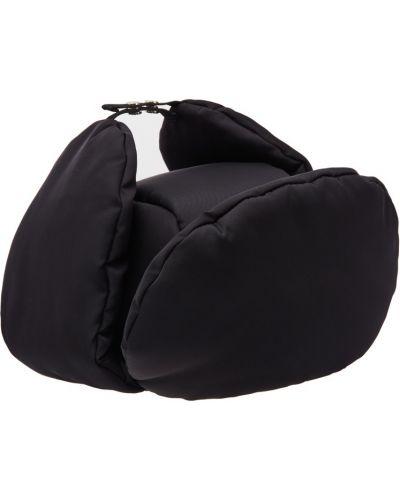 Шапка бини черная шапка-ушанка Prada