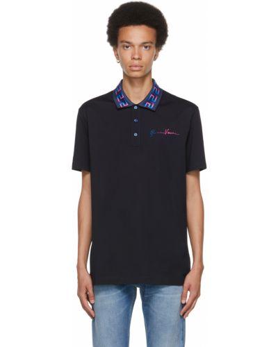 Niebieska koszulka krótki rękaw Versace