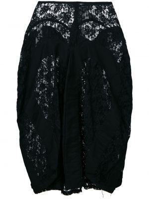 Черная ажурная юбка миди на молнии винтажная Junya Watanabe Comme Des Garçons Pre-owned