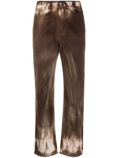 Хлопковые коричневые укороченные джинсы с карманами в стиле бохо Beau Souci
