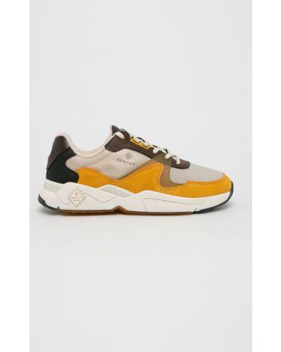 Кожаные ботинки на шнуровке коричневый Gant