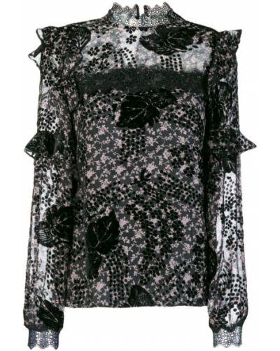 Блузка кружевная в полоску Three Floor