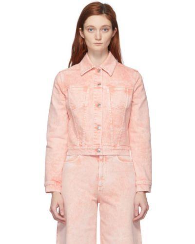 Кожаная куртка джинсовая длинная Stella Mccartney