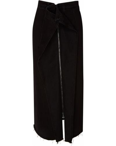 Юбка миди джинсовая с поясом Mm6 Maison Margiela