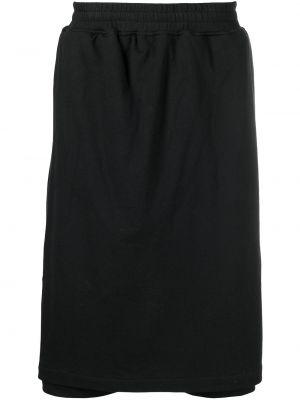 Czarna spódnica bawełniana z printem Ktz