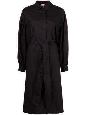 Хлопковое платье миди - черное Nude