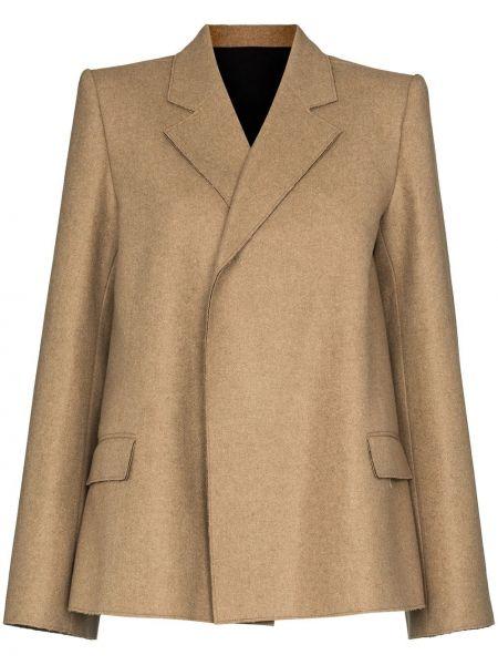 Шерстяной удлиненный пиджак с лацканами с потайной застежкой Toteme