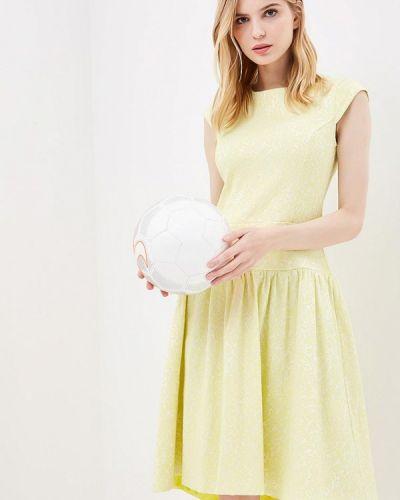 Платье весеннее желтый Aelite