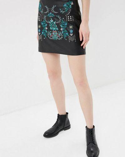 Черная юбка мини Desigual