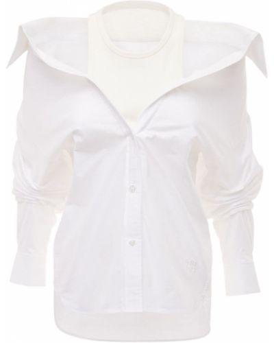 Biała koszula bawełniana z haftem Alexander Wang