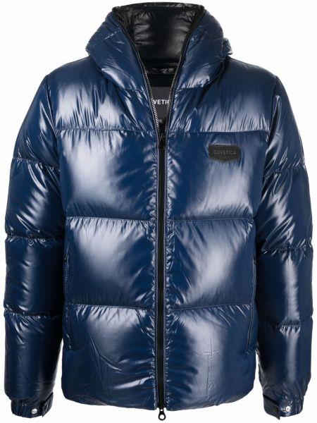 Стеганая куртка - синяя Duvetica