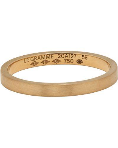 Żółty złoty pierścionek Le Gramme