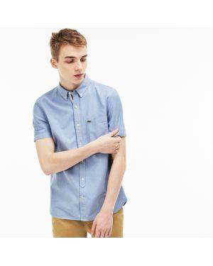 Рубашка с короткими рукавами хлопковая зауженная Lacoste
