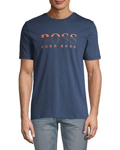 Ватная хлопковая футболка с короткими рукавами Boss Hugo Boss