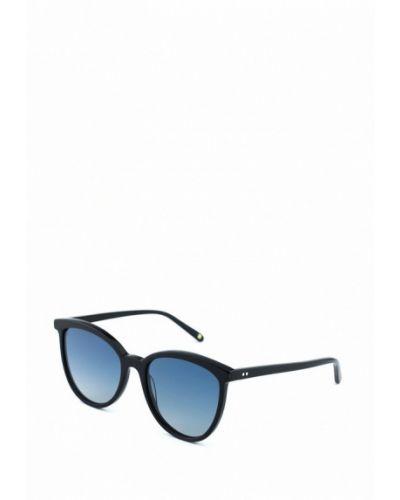 Солнцезащитные очки круглые черные Luckylook