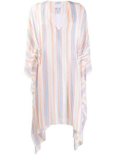 Асимметричное розовое приталенное платье мини с драпировкой Noon By Noor