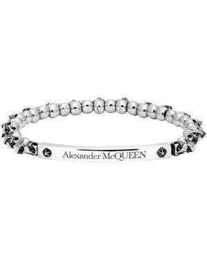 Bransoletka z czaszkami na gumce Alexander Mcqueen