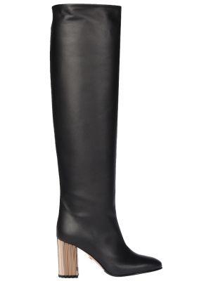 Ботфорты на каблуке кожаные Le Silla