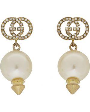 Kolczyki pierścionki z perłami kolczyki ze sztyftem Gucci