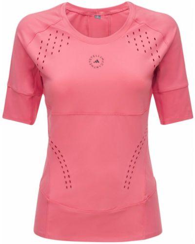 Розовая футболка сетчатая Adidas By Stella Mccartney