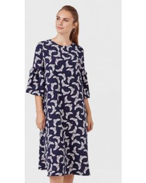 Платье миди - синее Pompa