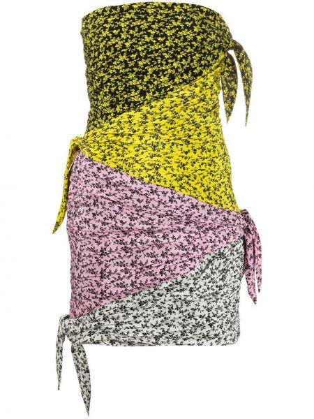 Облегающее платье с цветочным принтом пэчворк Philosophy Di Lorenzo Serafini