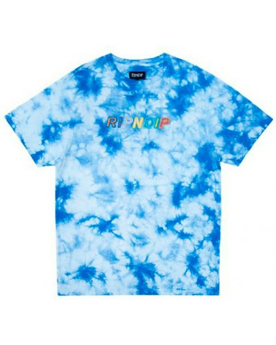 Niebieska koszulka z haftem Ripndip