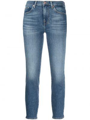 Джинсовые зауженные джинсы - синие 7 For All Mankind