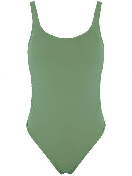 Зеленый купальник с воротником с подкладкой с декоративной отделкой Amir Slama