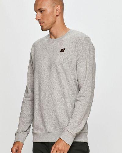 Szara bluza z kapturem bawełniana Clean Cut Copenhagen